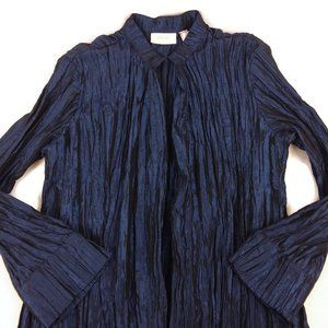 Chico's Blue Open Front Cardigan Bell Sleeves Sz 2